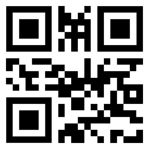QR Code. Use a QR Code Reader to read its message.